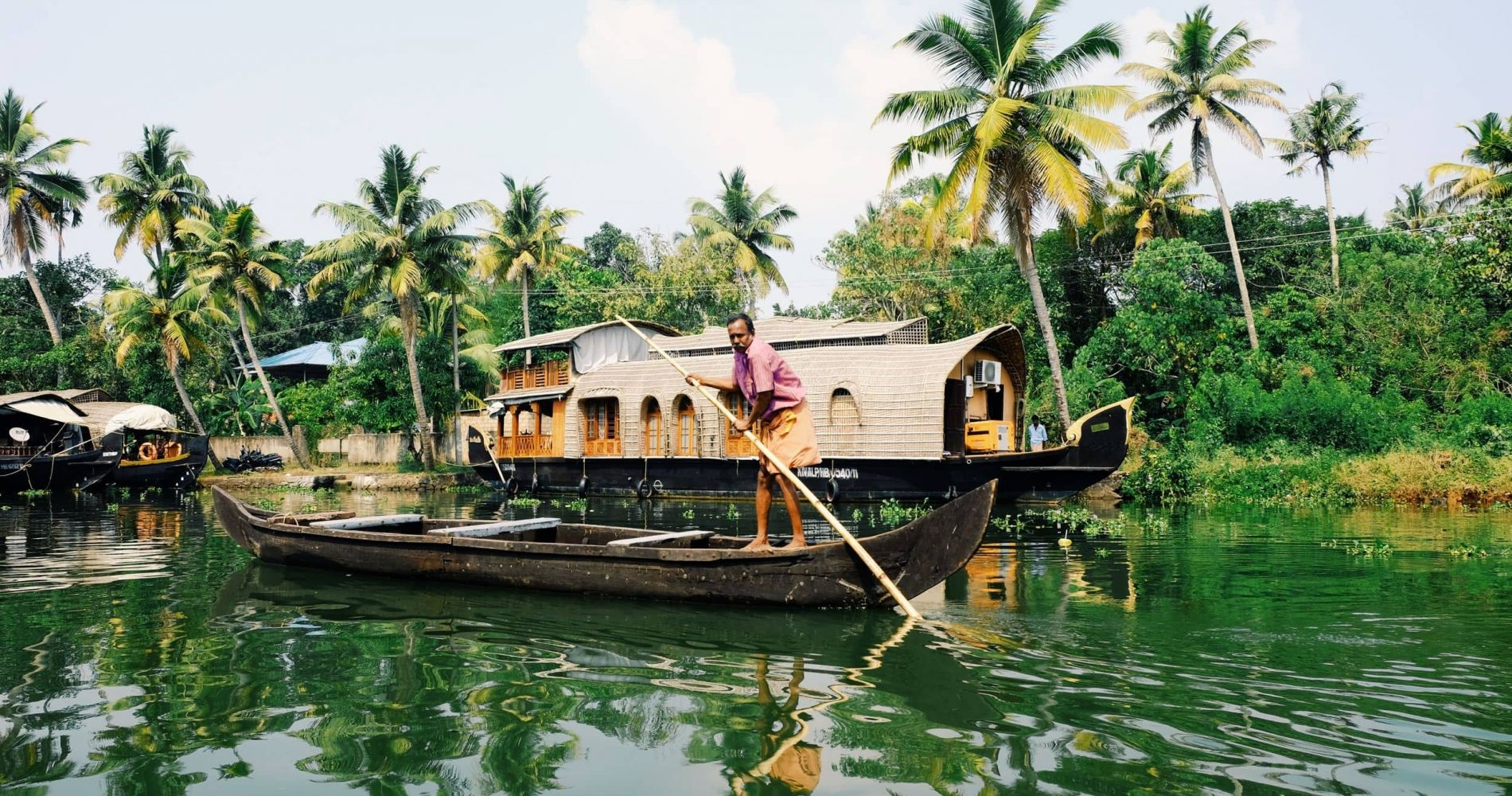 Cruise for Two on a Mysterious Alappuzha Backwaters Houseboat in India