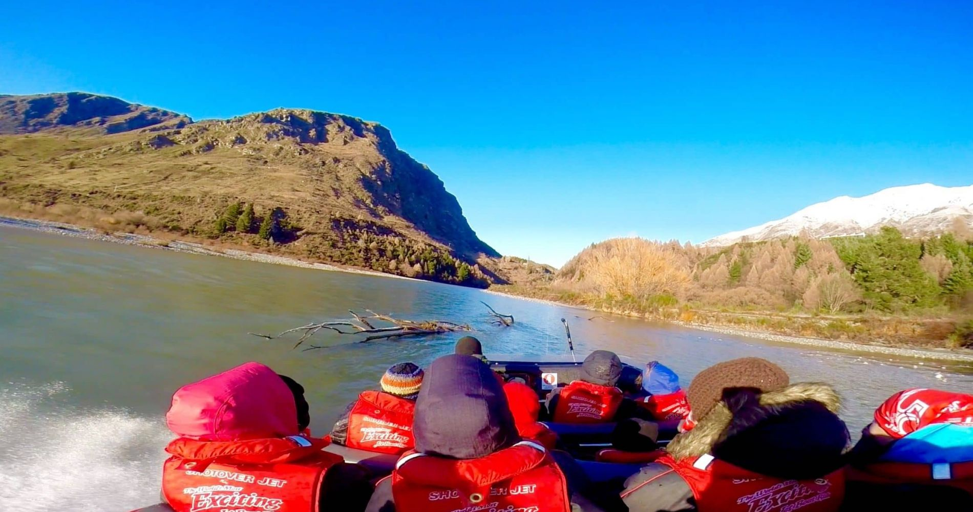 Jet Boat Experience on Shotover River, Queenstown in New Zealand