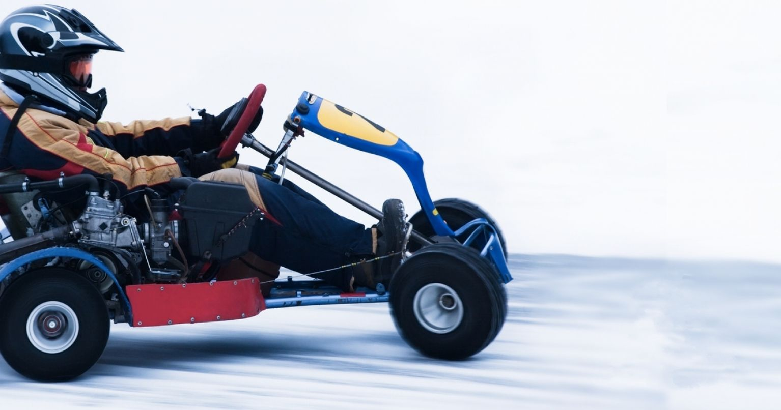 Go Kart Racing on Ice Finland Tinggly Experience Gifts