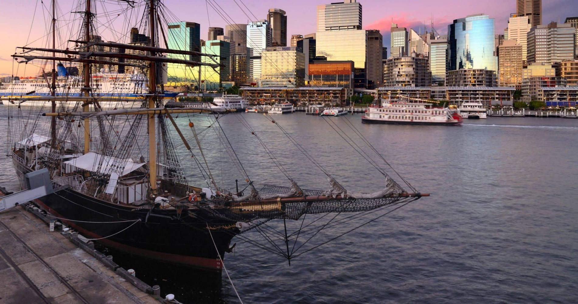 Twilight Tall Ship Dinner Cruise in Sydney for Two