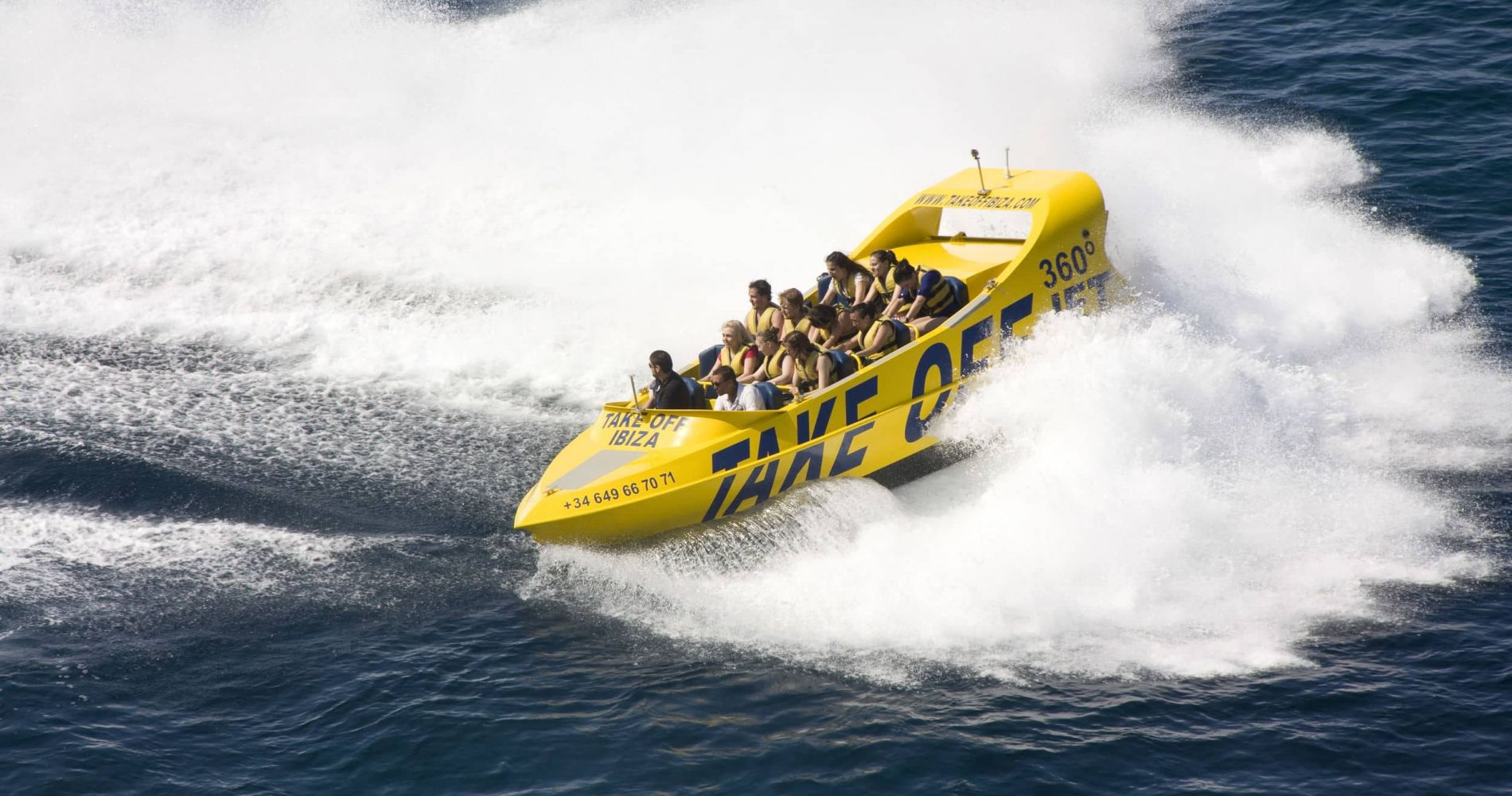 1-Hour Jet Boat 360 Ride in Ibiza for Two