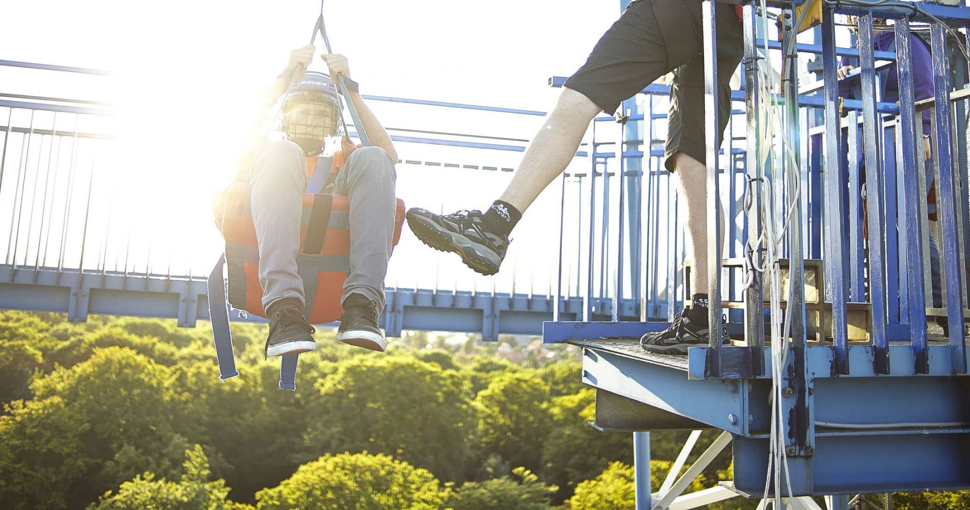 Free Fall Experience in Tivoli Park in Denmark for Two