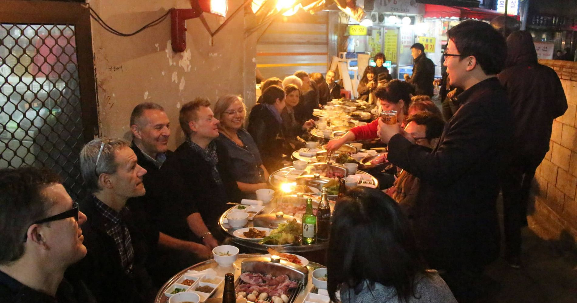 Korean Night Dining Tour in Seoul