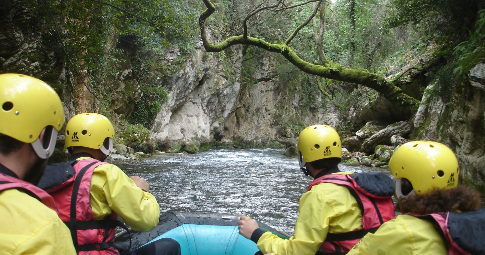 Rafting Lousios Gorge Greece tinggly experience gift
