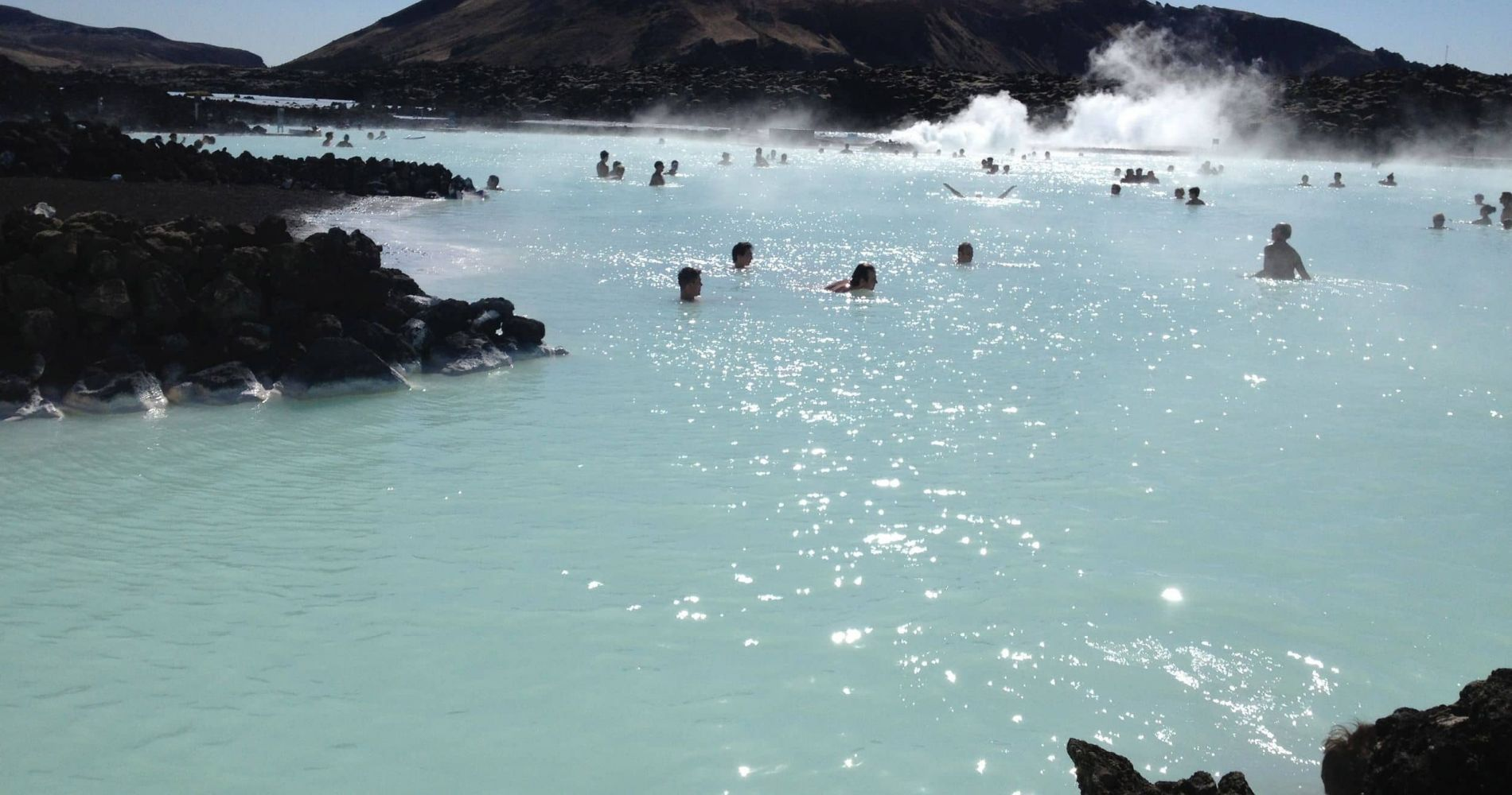 Relaxing Day at Geothermal Spa in Iceland
