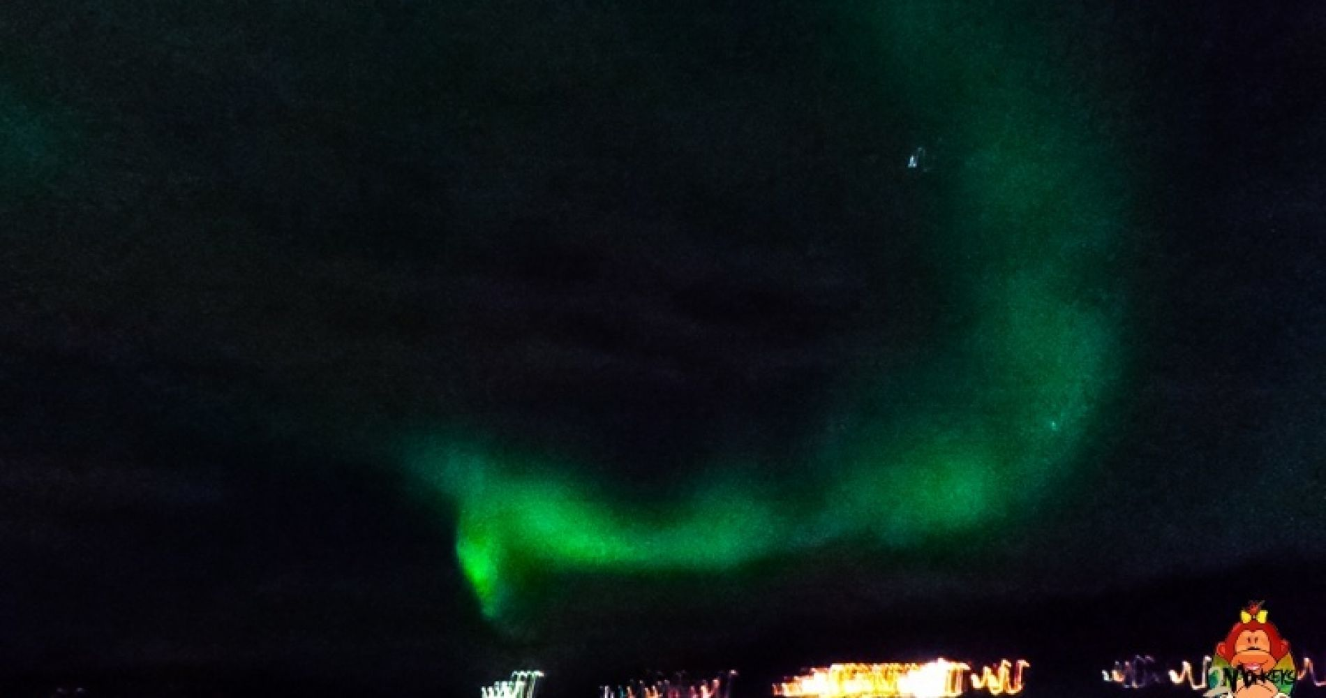 Northern lights colourful sky Iceland Tinggly Experience Gift