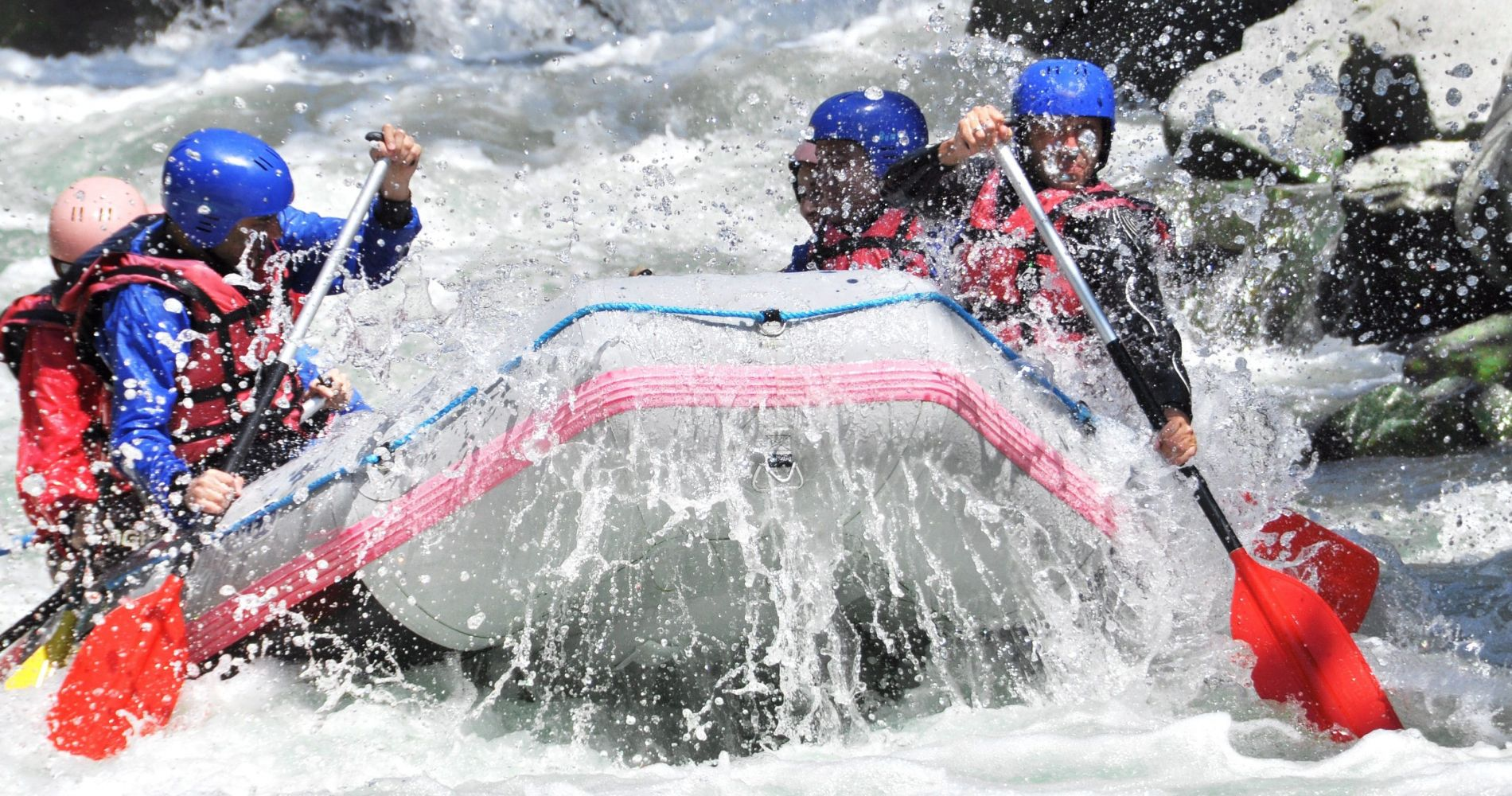 Thrilling White Water Rafting in the River Tummel in Scotland