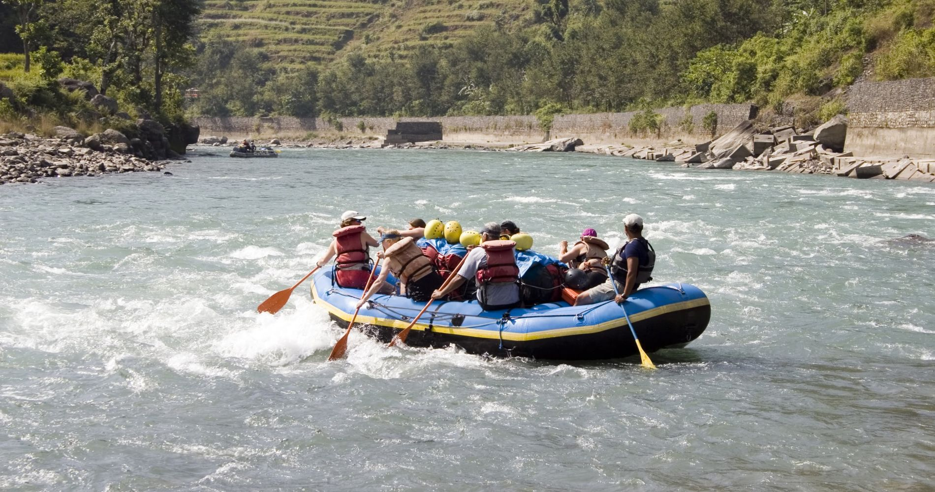 Extreme White Water Rafting in Nepal
