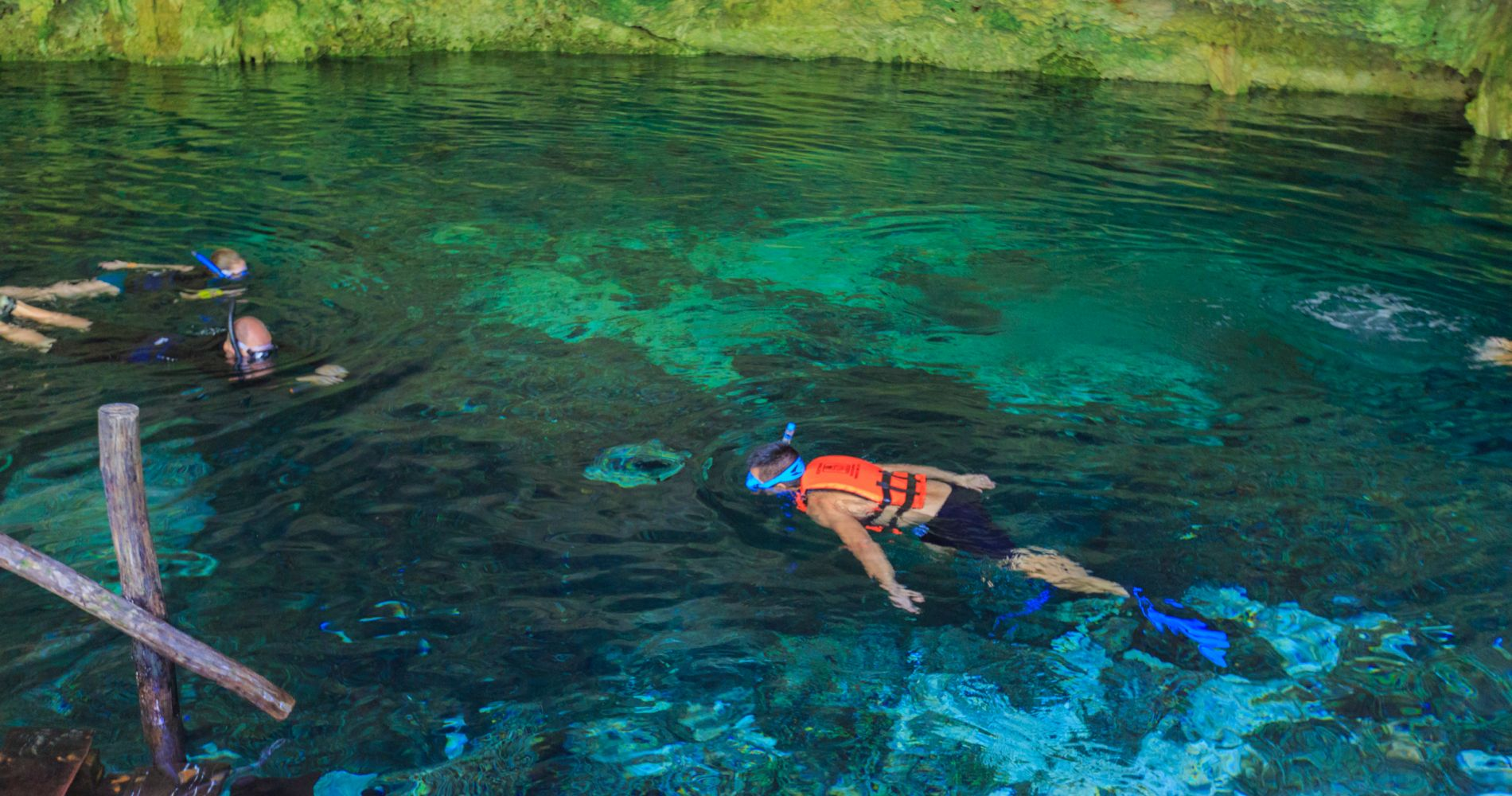 Snorkeling and Underground Cenotes Half-Day Adventure in Mexico for Two