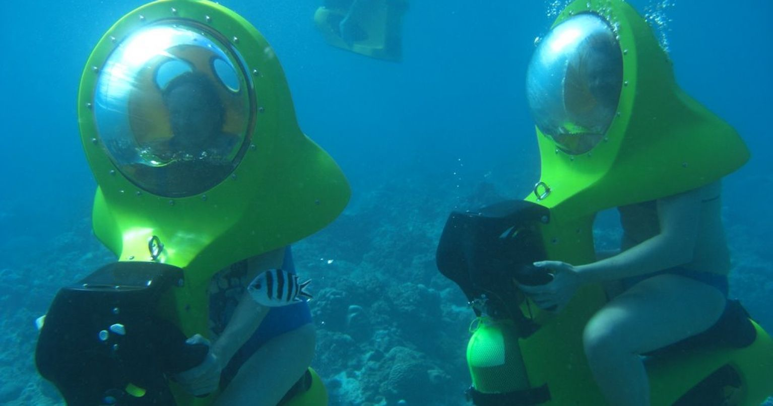 Underwater Scooter Cruiser Mauritius Tinggly Experience Gifts