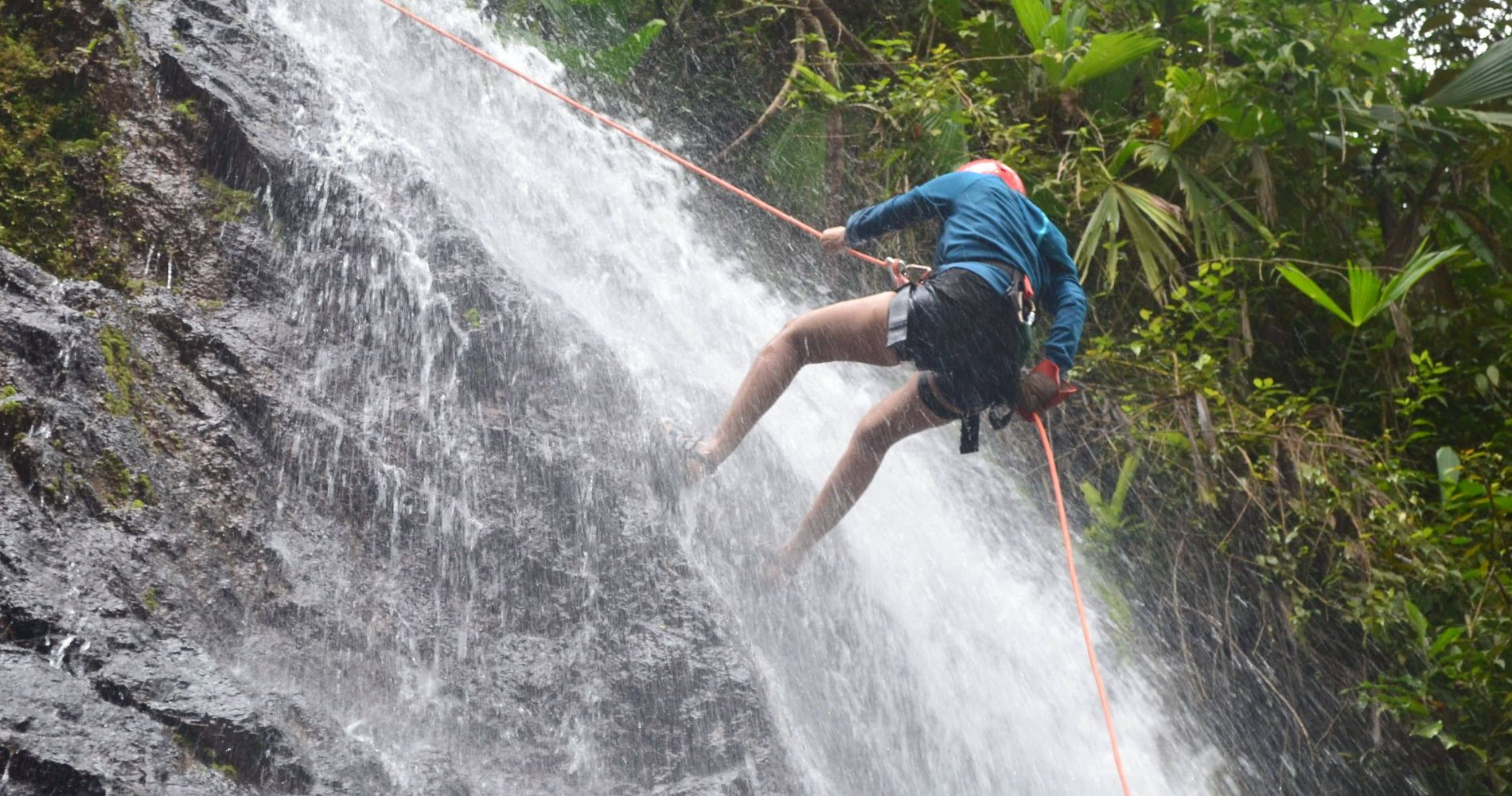 Waterfall Rappelling/Canyoning & Zipline Experience in Costa Rica for Two