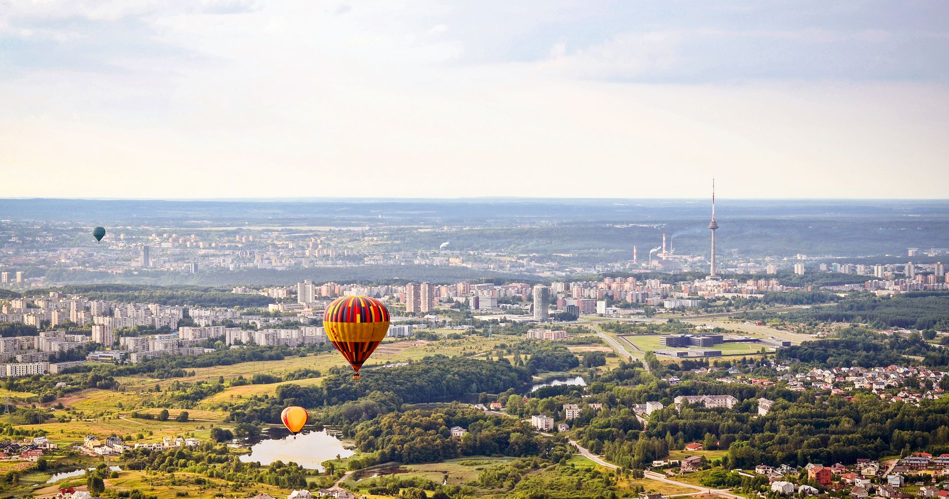 Romantic Flight Hot Air Balloon over Vilnius Tinggly Experience Gifts