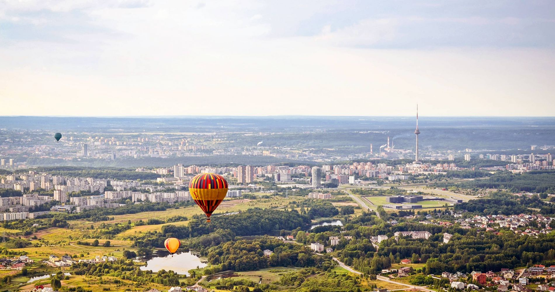 Romantic Flight with Hot Air Balloon over Vilnius Oldtown for Two