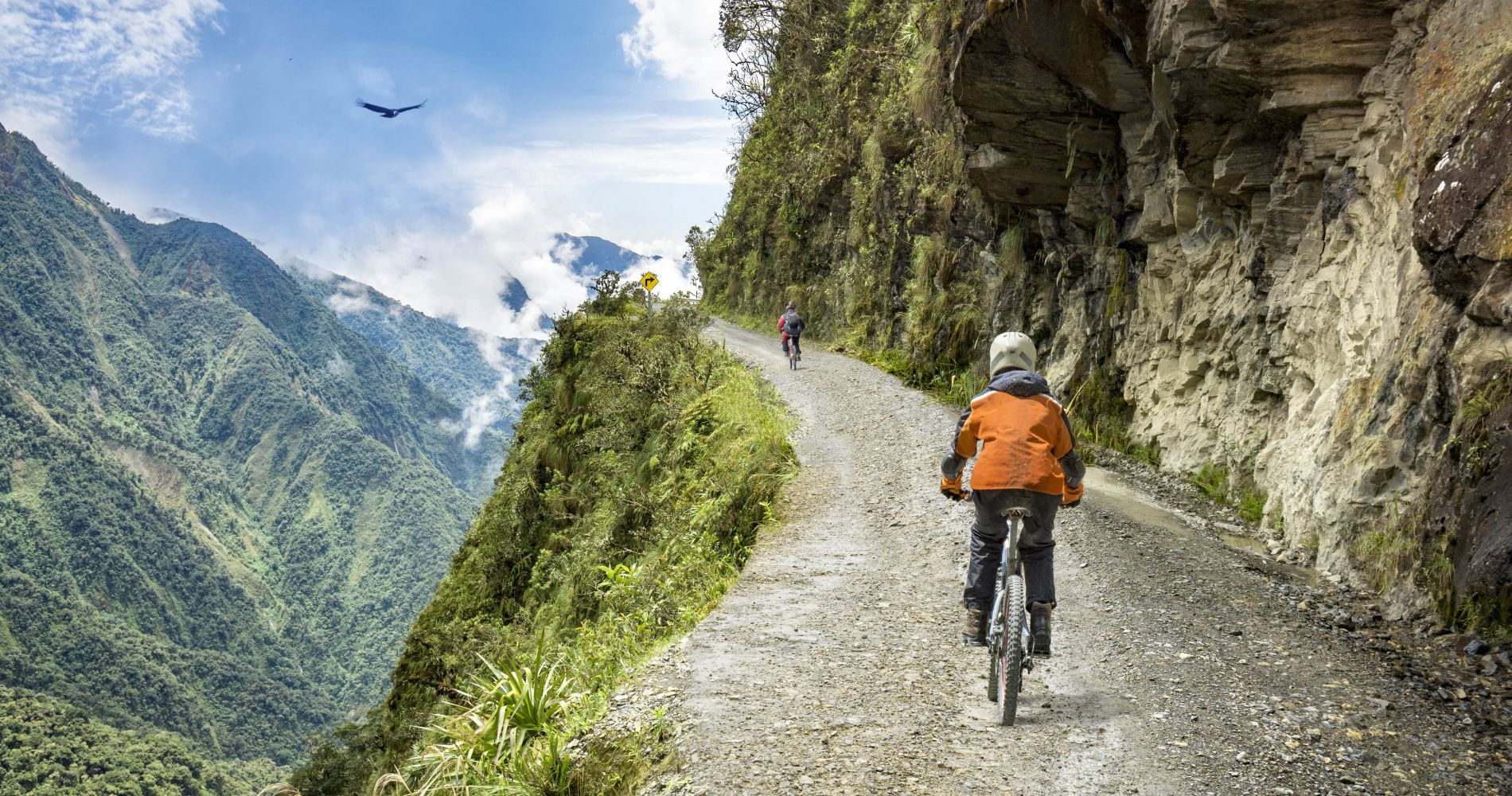 Mountain biking down The World's Most Dangerous Road in Bolivia for Two