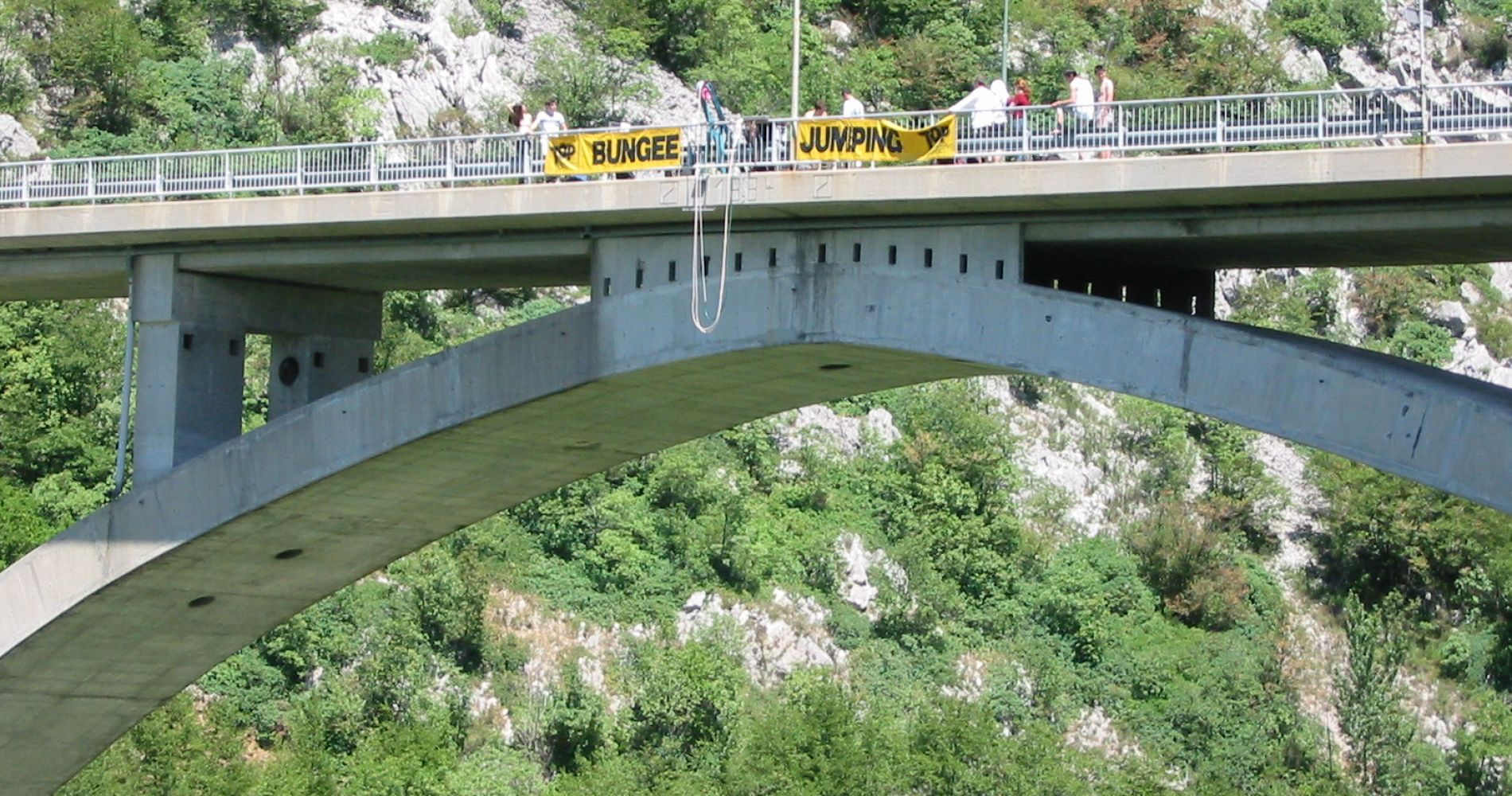 Bungee jump from Solkan bridge Slovenia  Tinggly Experience Gifts
