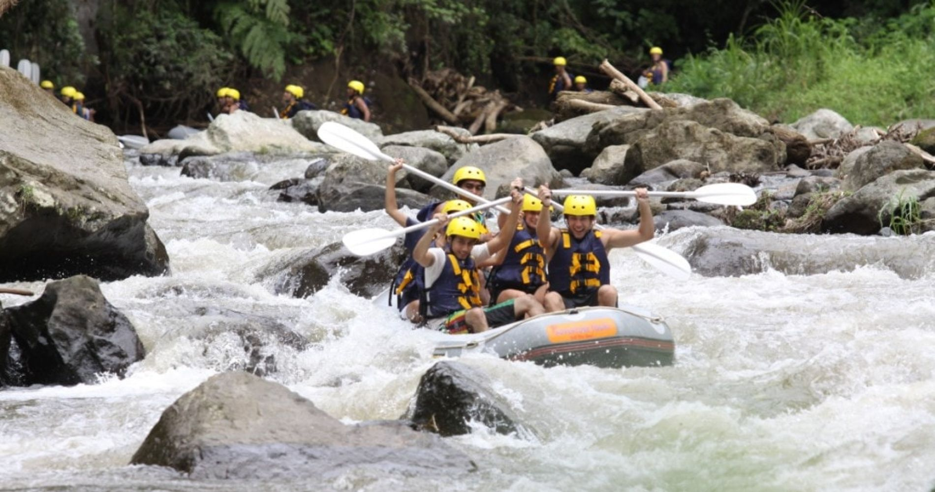 Extreme White Water Rafting in Indonesia