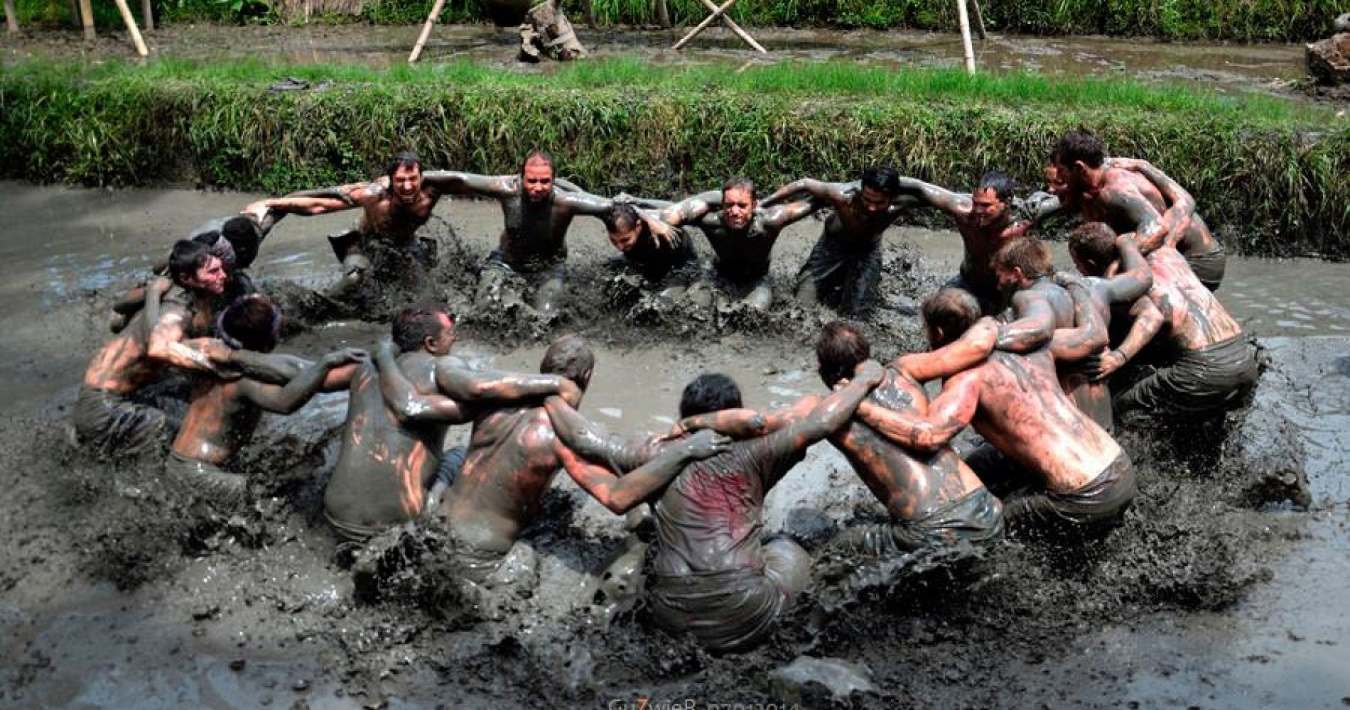Traditional Balinese Mud Games for Two