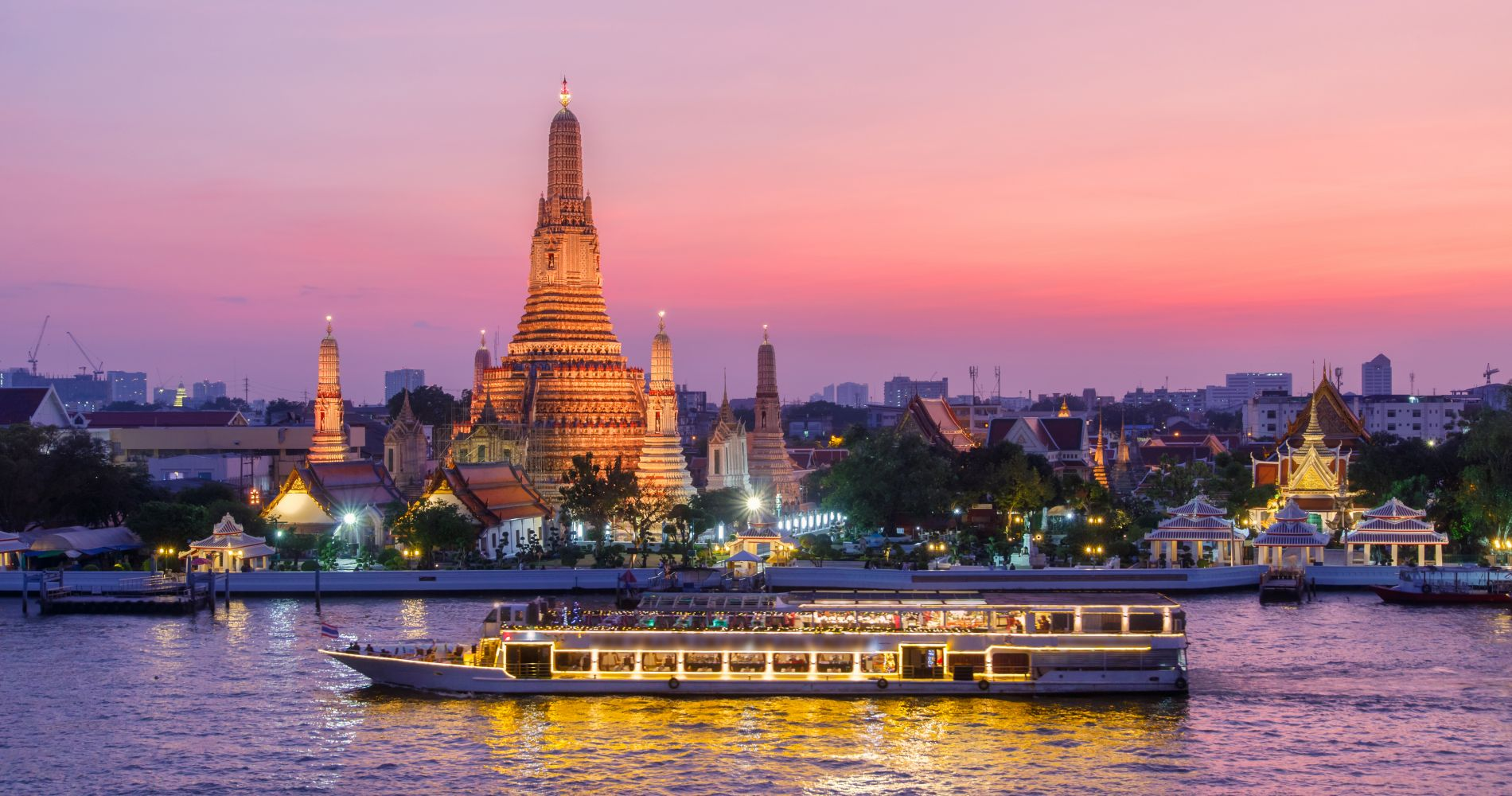 An Authentic Thai Cuisine Cruise in Bangkok for Two