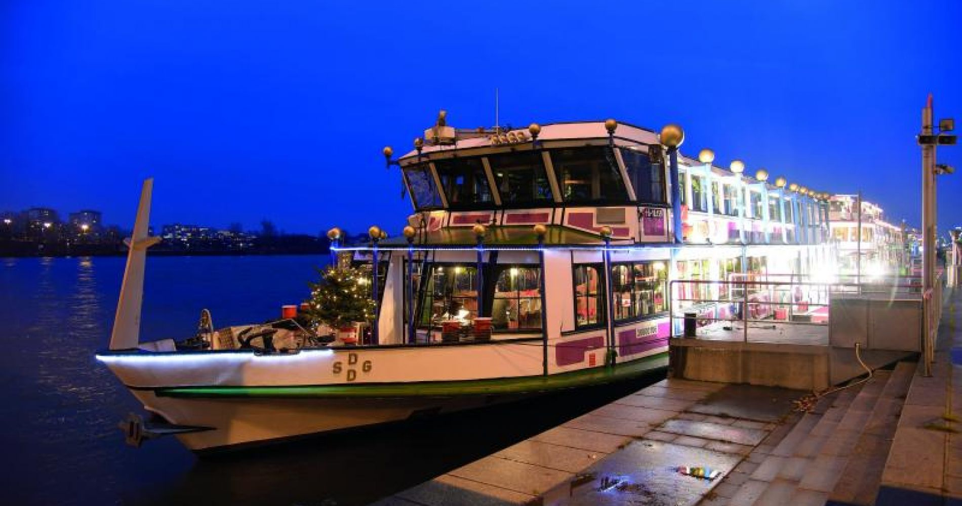 Evening Boat Cruise & Dinner in Vienna for Two