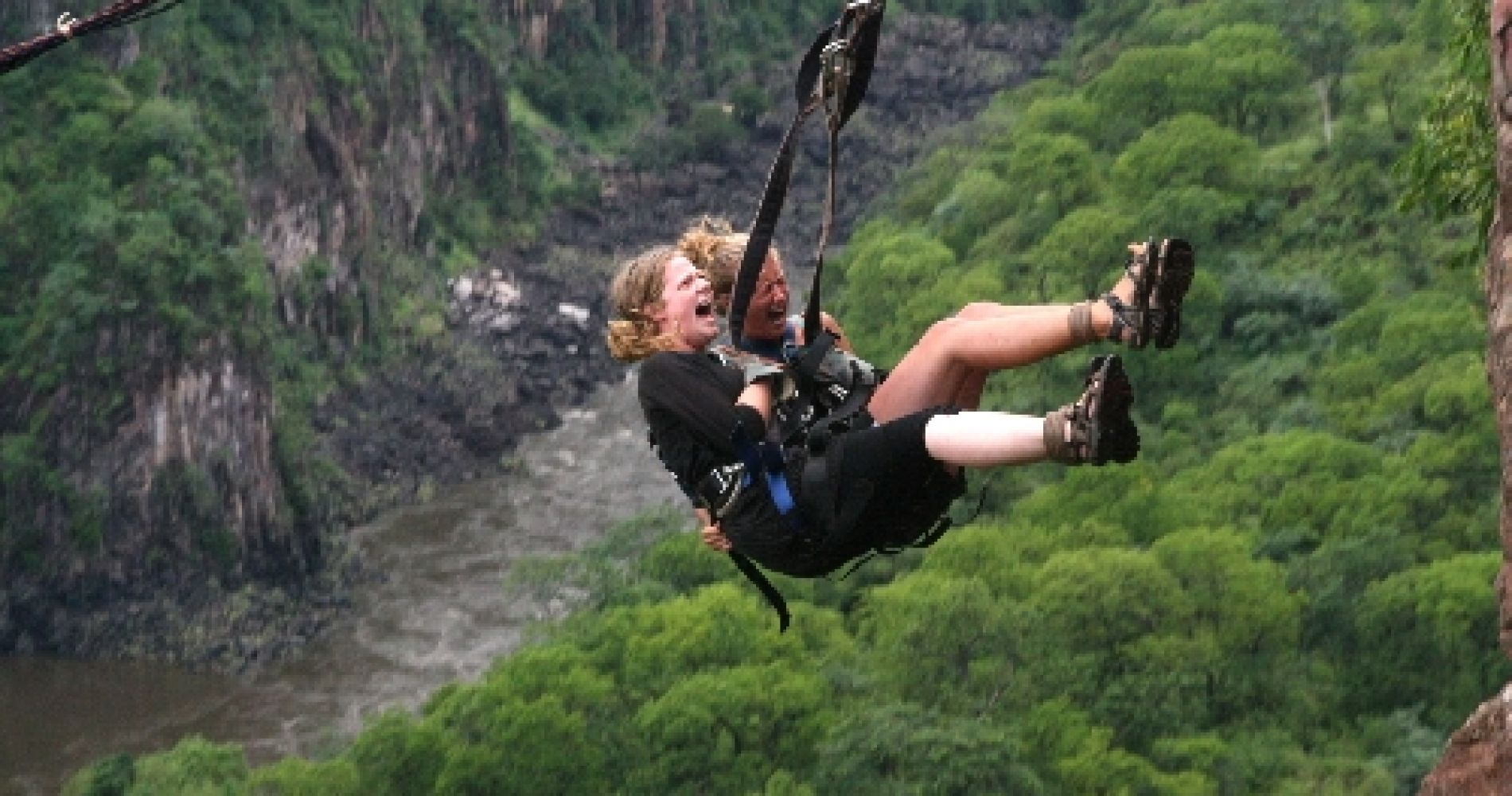 Breathtaking Gorge Swing Batoka Gorge below Victoria Falls Tinggly Experience Gift