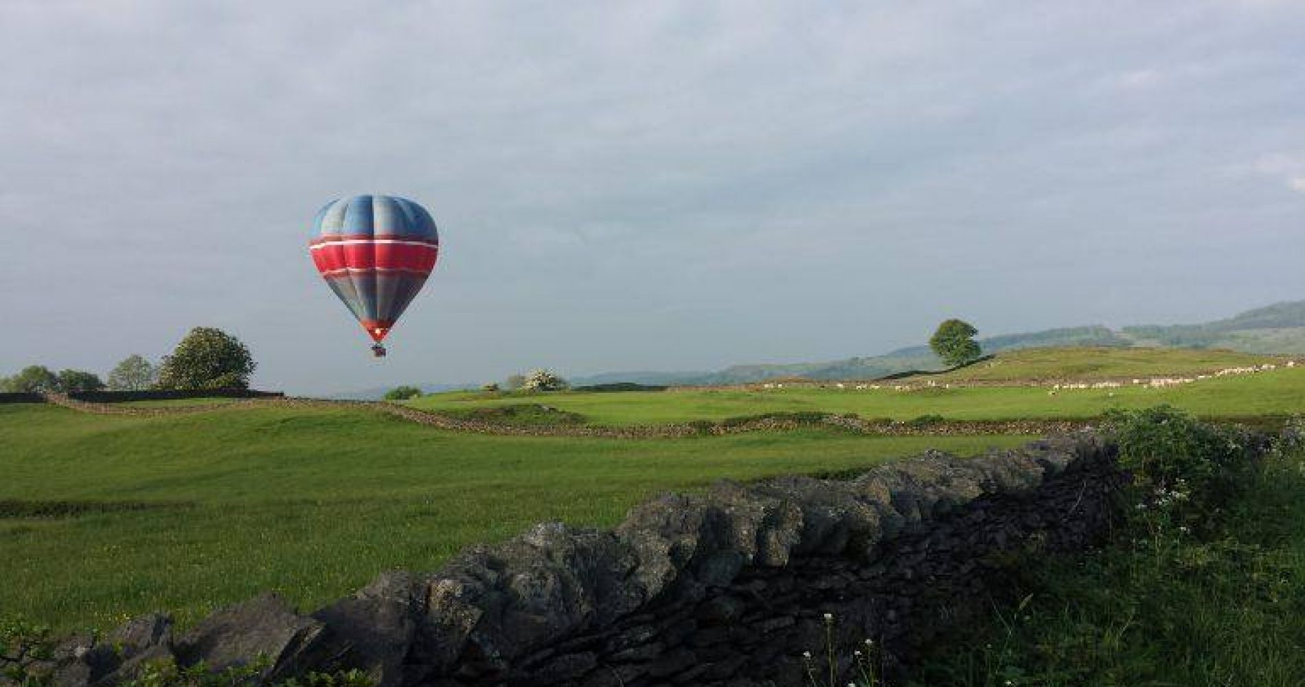 hot air balloon ride over ribble valley