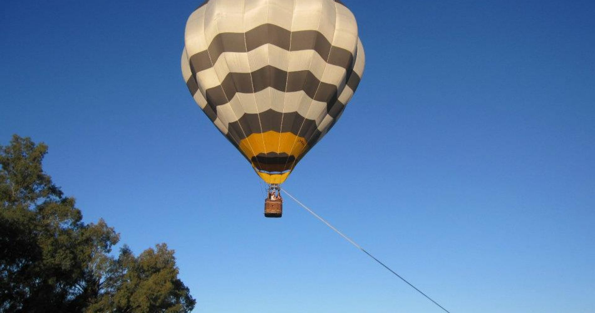 Hot air balloon flight over Andes Mountains in Mendoza