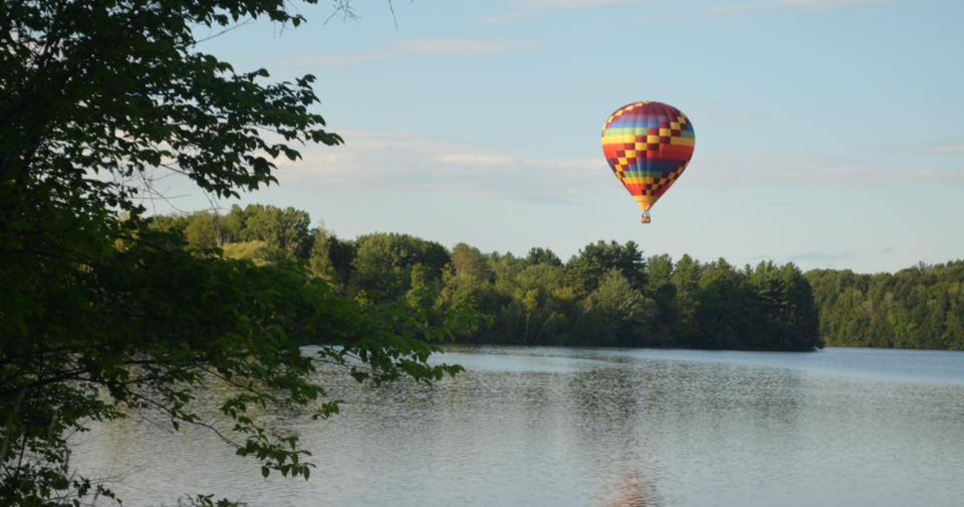 Hot air balloon flight over Green Mountains of Vermont