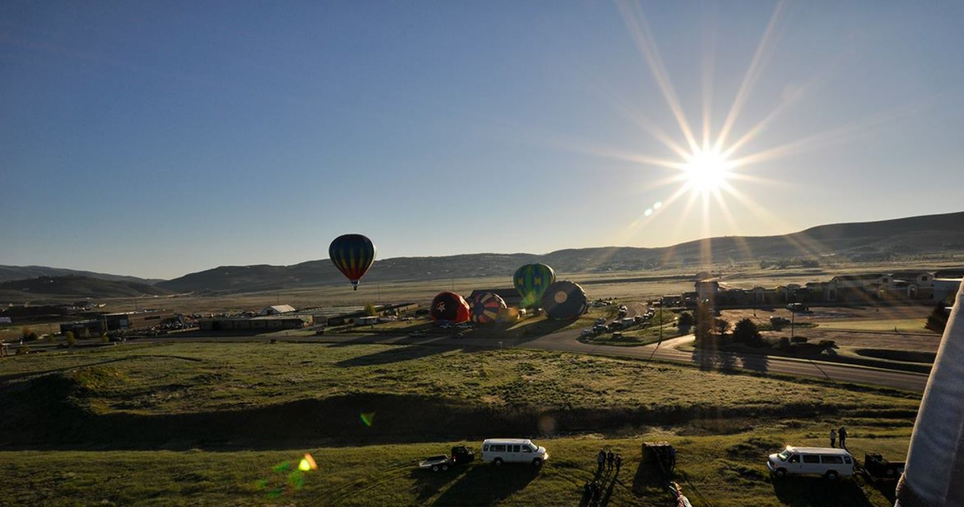 Hot air balloon flight over Park City, Utah