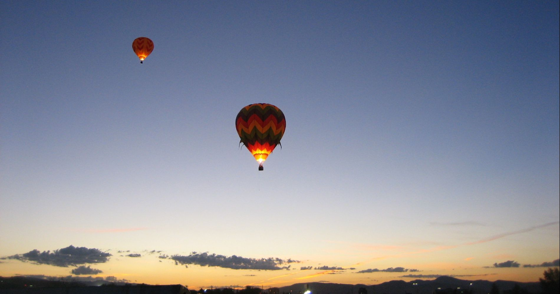 Hot air balloon flight in Reno