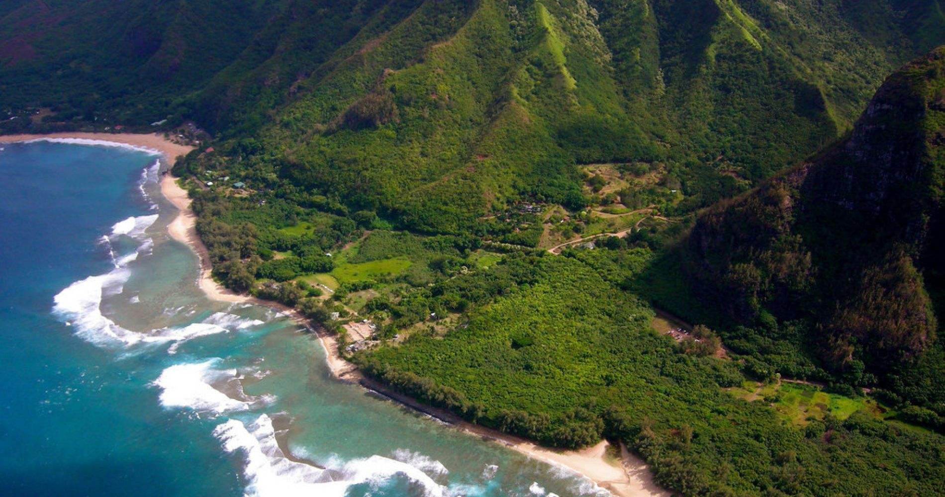 Helicopter flight over West Maui and Molokai