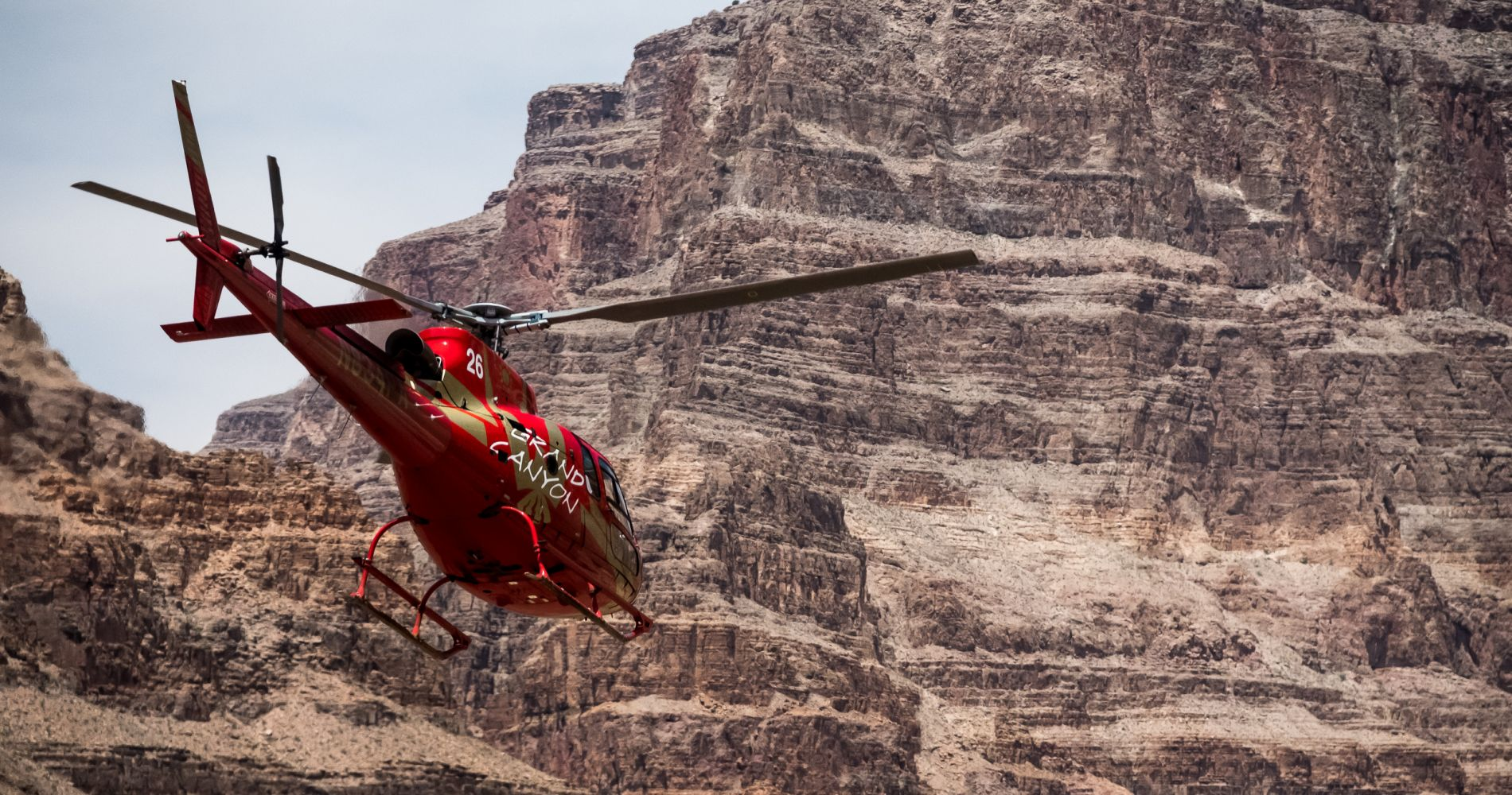 Helicopter flight over Grand Canyon