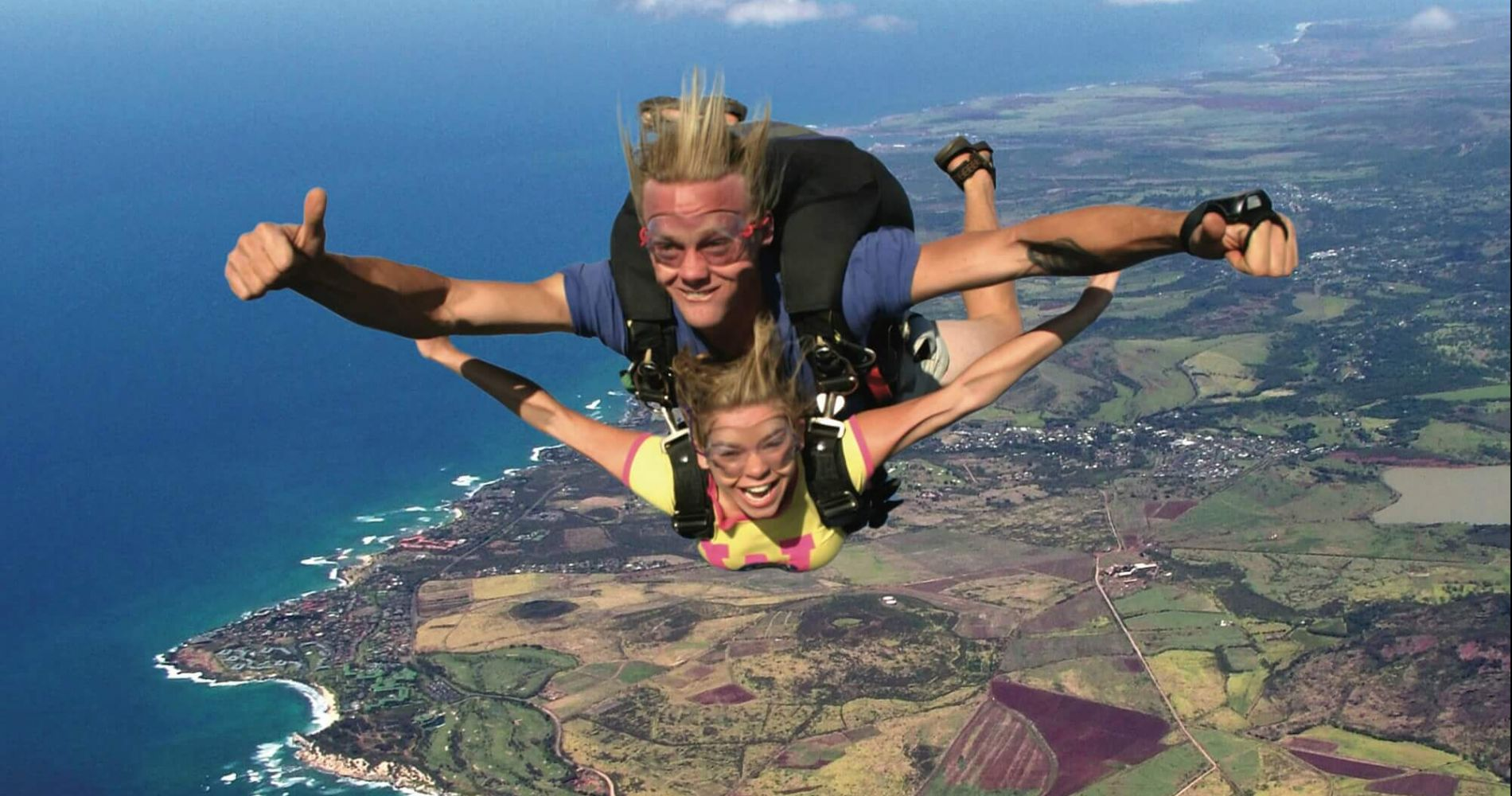 Tandem skydive in Honolulu