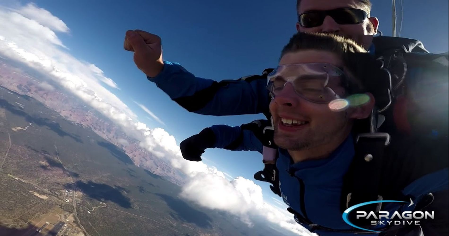 Stunning tandem skydive in Grand Canyon