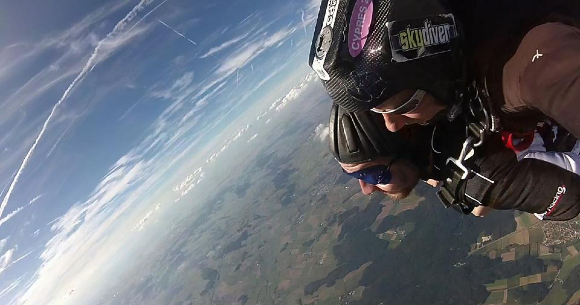 Tandem skydive in southern Germany