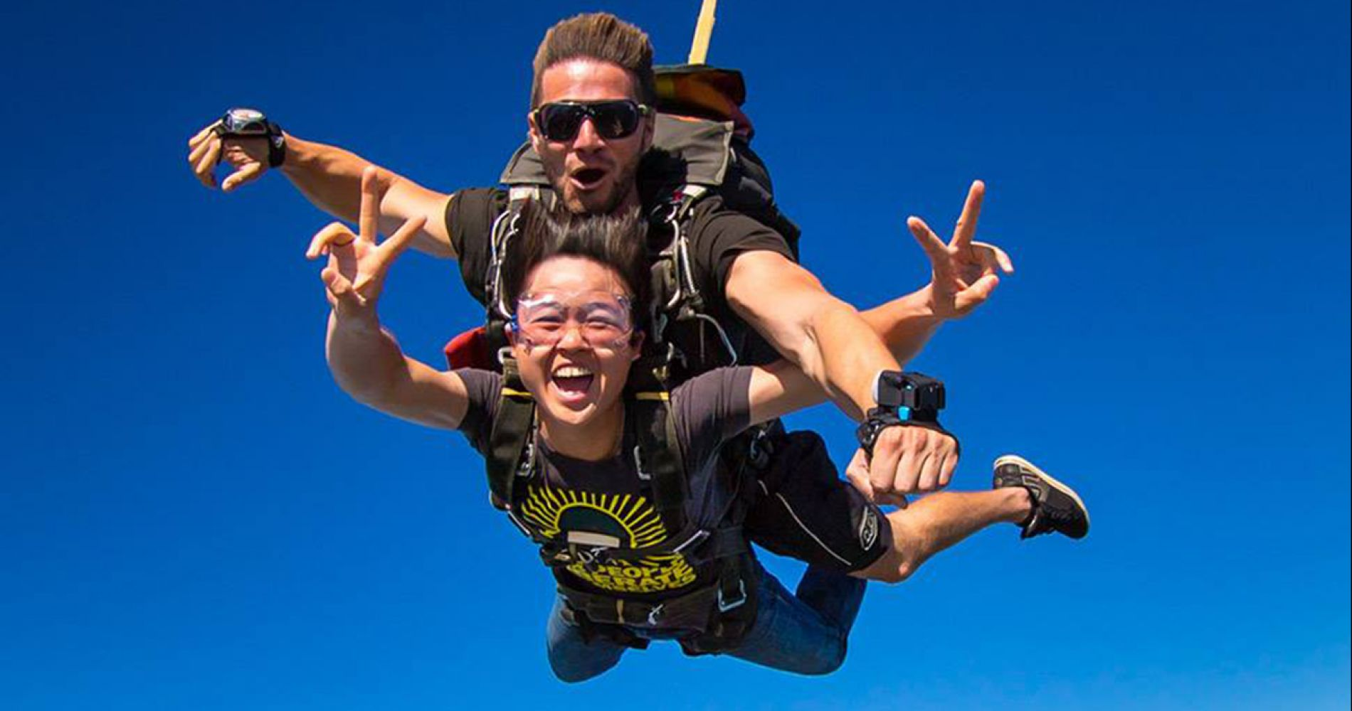 Breathtaking tandem skydiving in Byron Bay