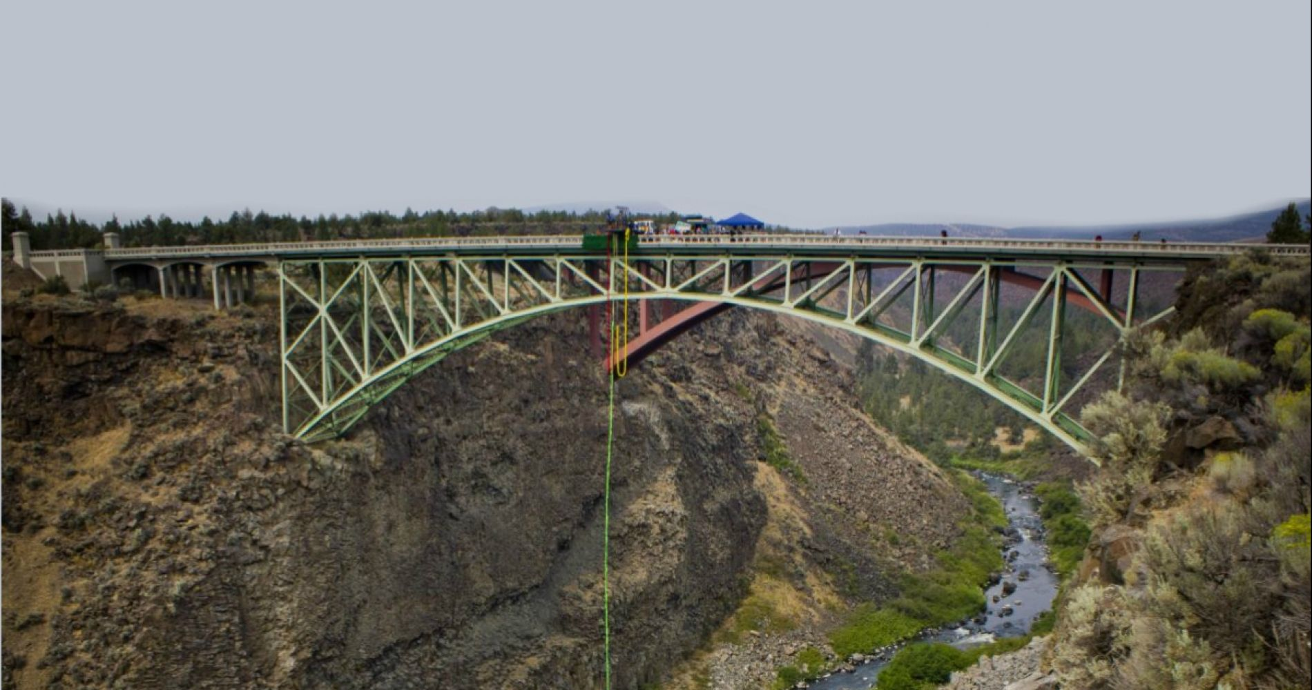 Bungee jump over the Crooked River