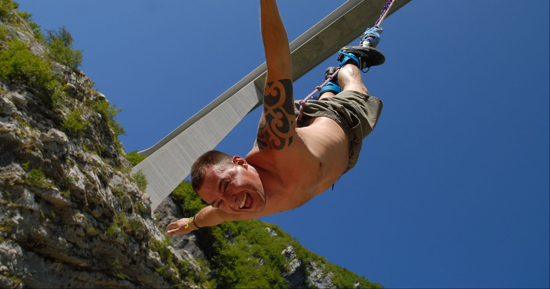 Highest bungy jump in Italy for Two