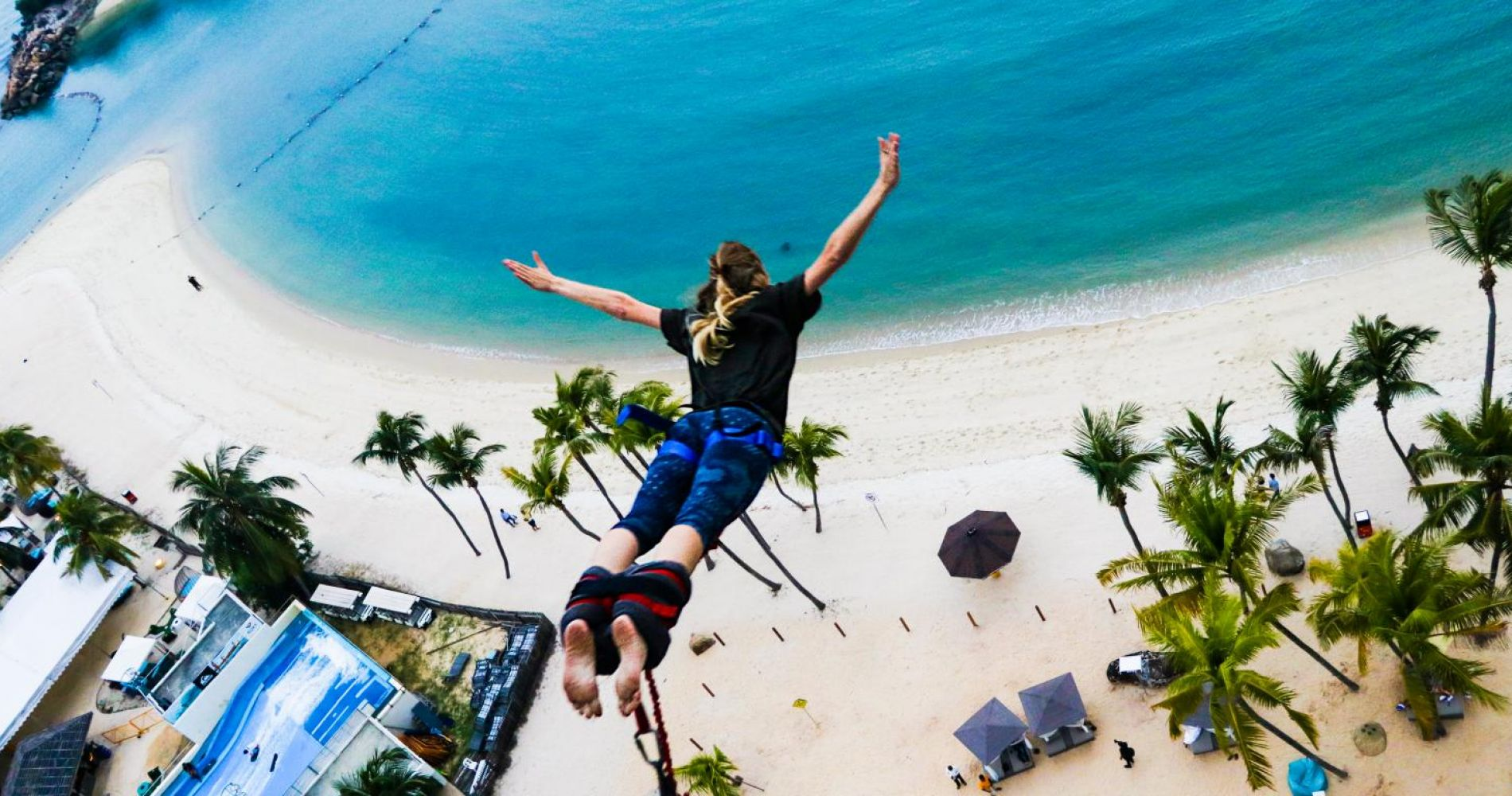Bungy life on the edge in Singapore