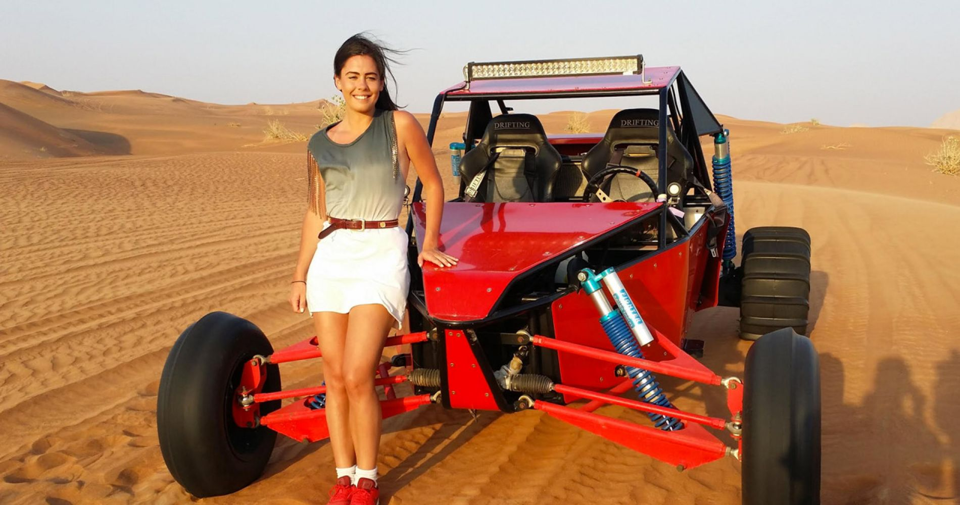 Dune buggy safari with BBQ dinner for two