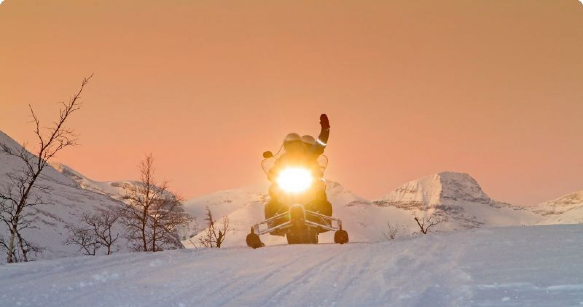 Snowmobile Ice Fishing for Two in Norway
