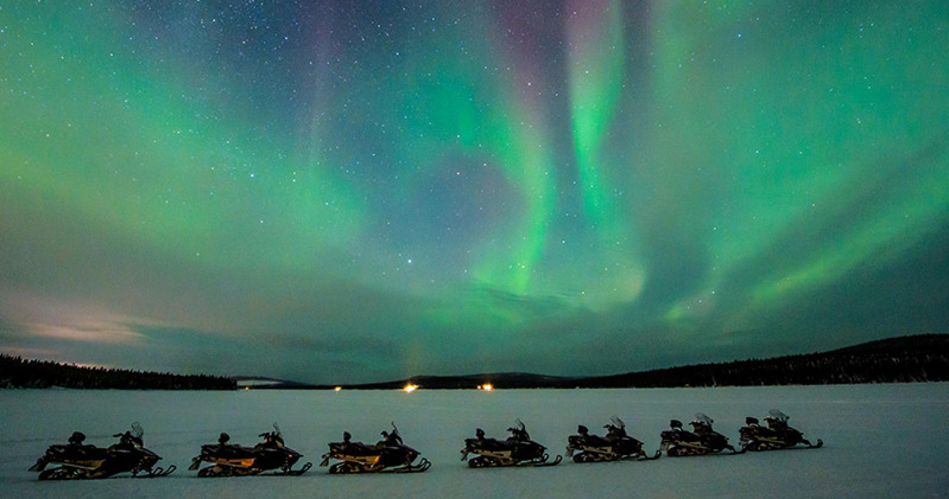 Northern Lights Safari on Snowmobile for Two in Sweden