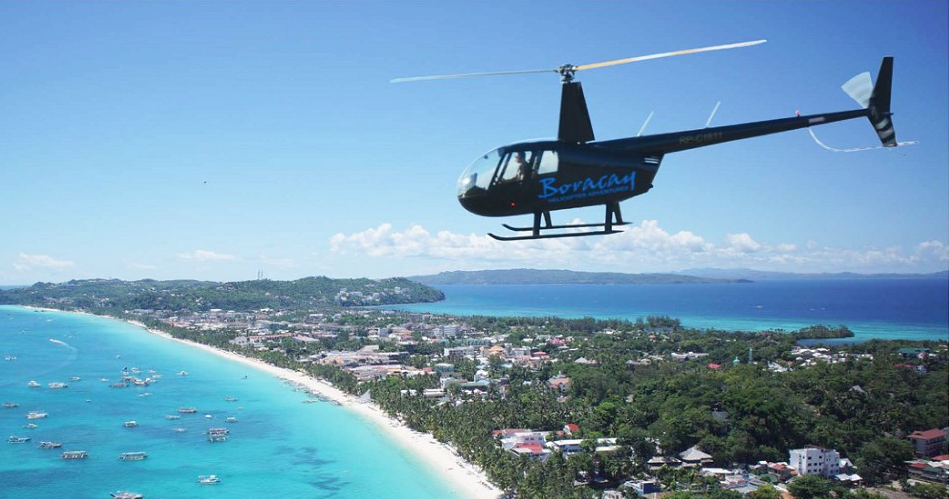 Island and Windmill Heli Tour in Philippines for Two