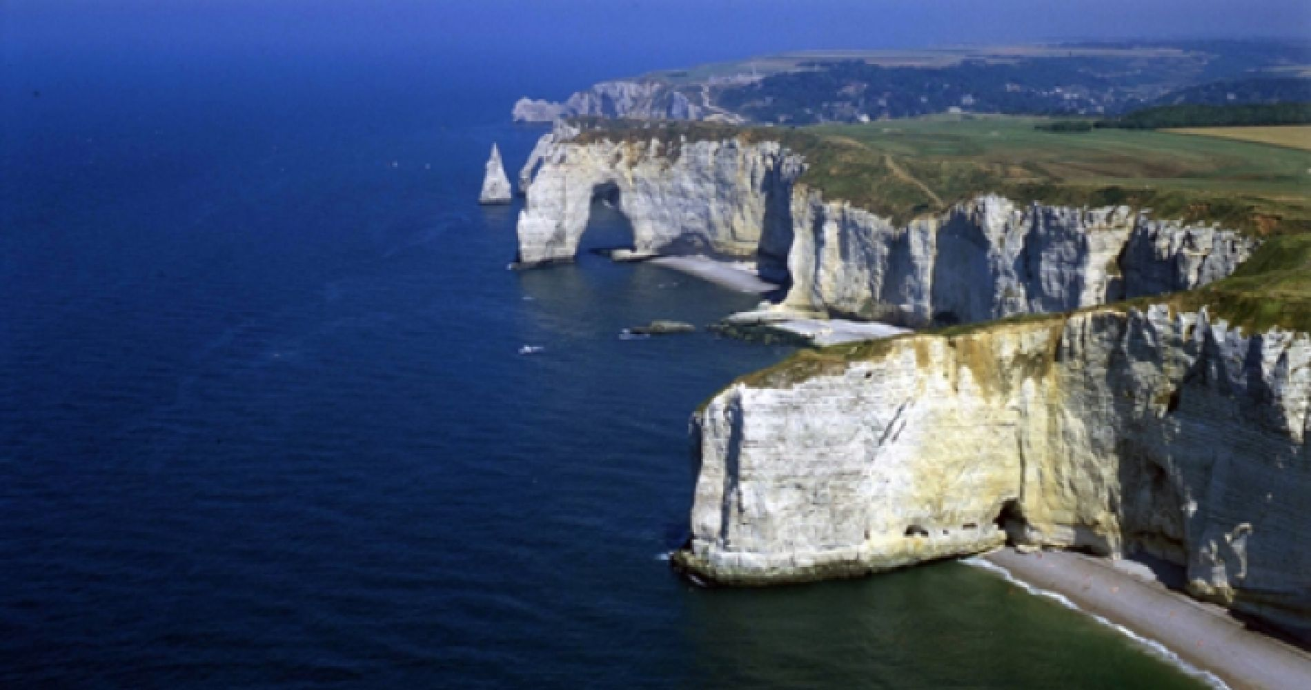 Helicopter Tour of the Cliffs of Etretat in France