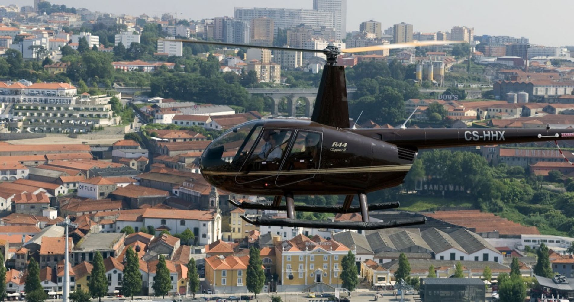 Helicopter Ride over the Historic Area of Porto