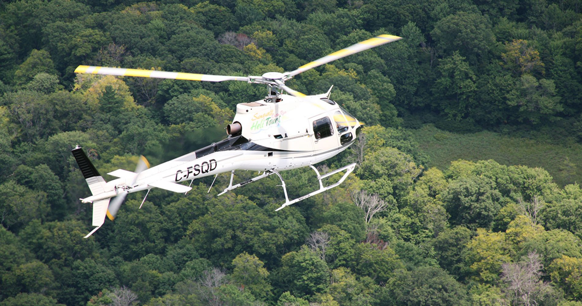 Helicopter flight in Costa Rica