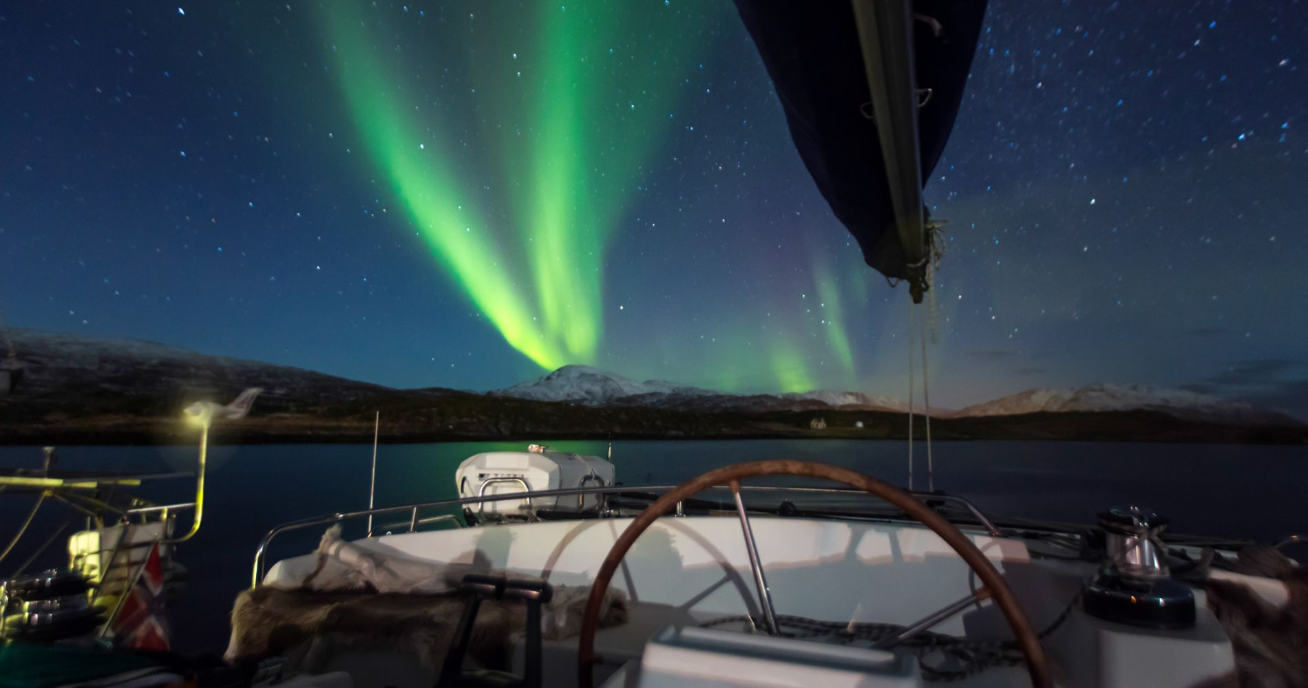 Northern Lights Sailing for Two in Norway