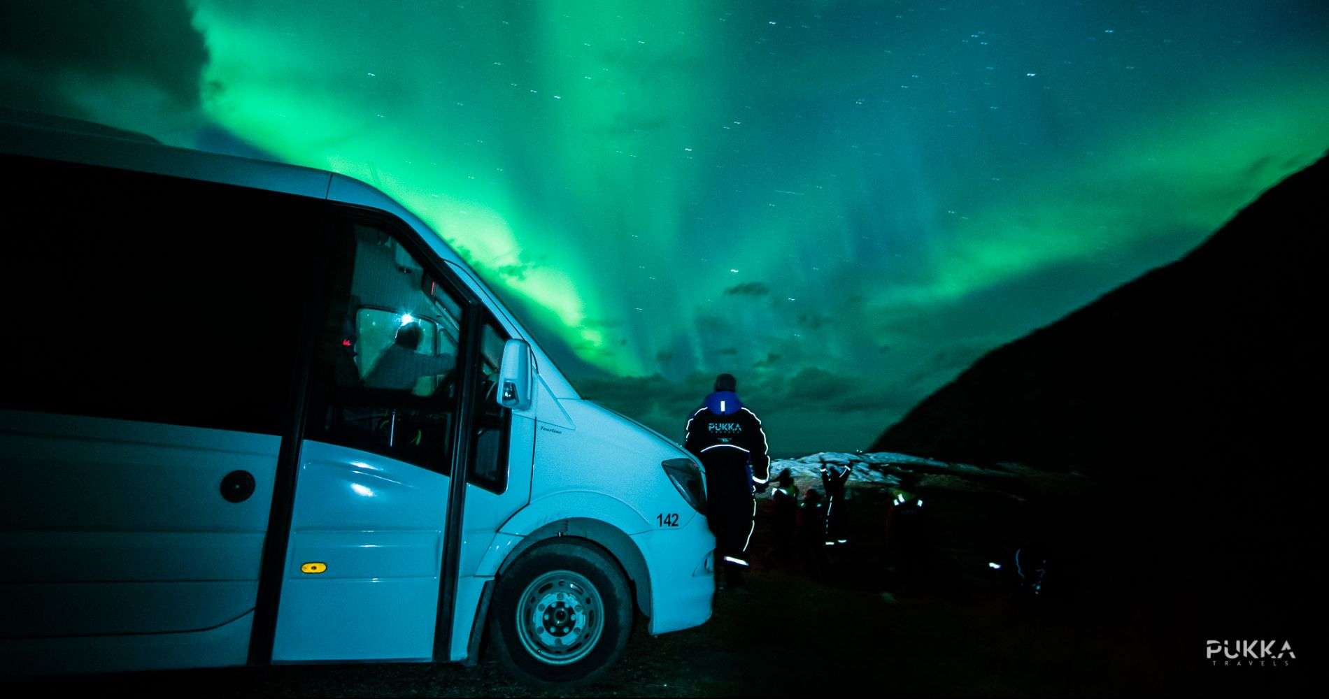 Northern Lights Mini Bus Chase Tromsø