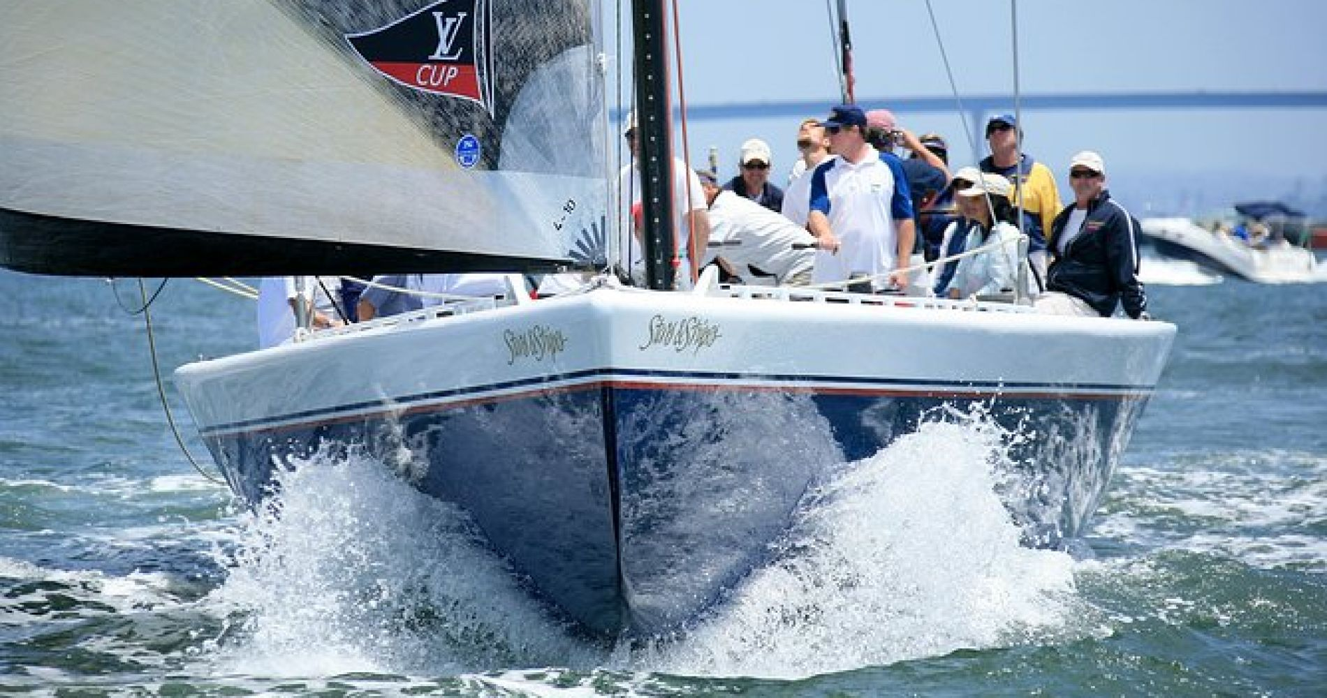 Sail Stars & Stripes America's Cup Racing Yacht in San Diego
