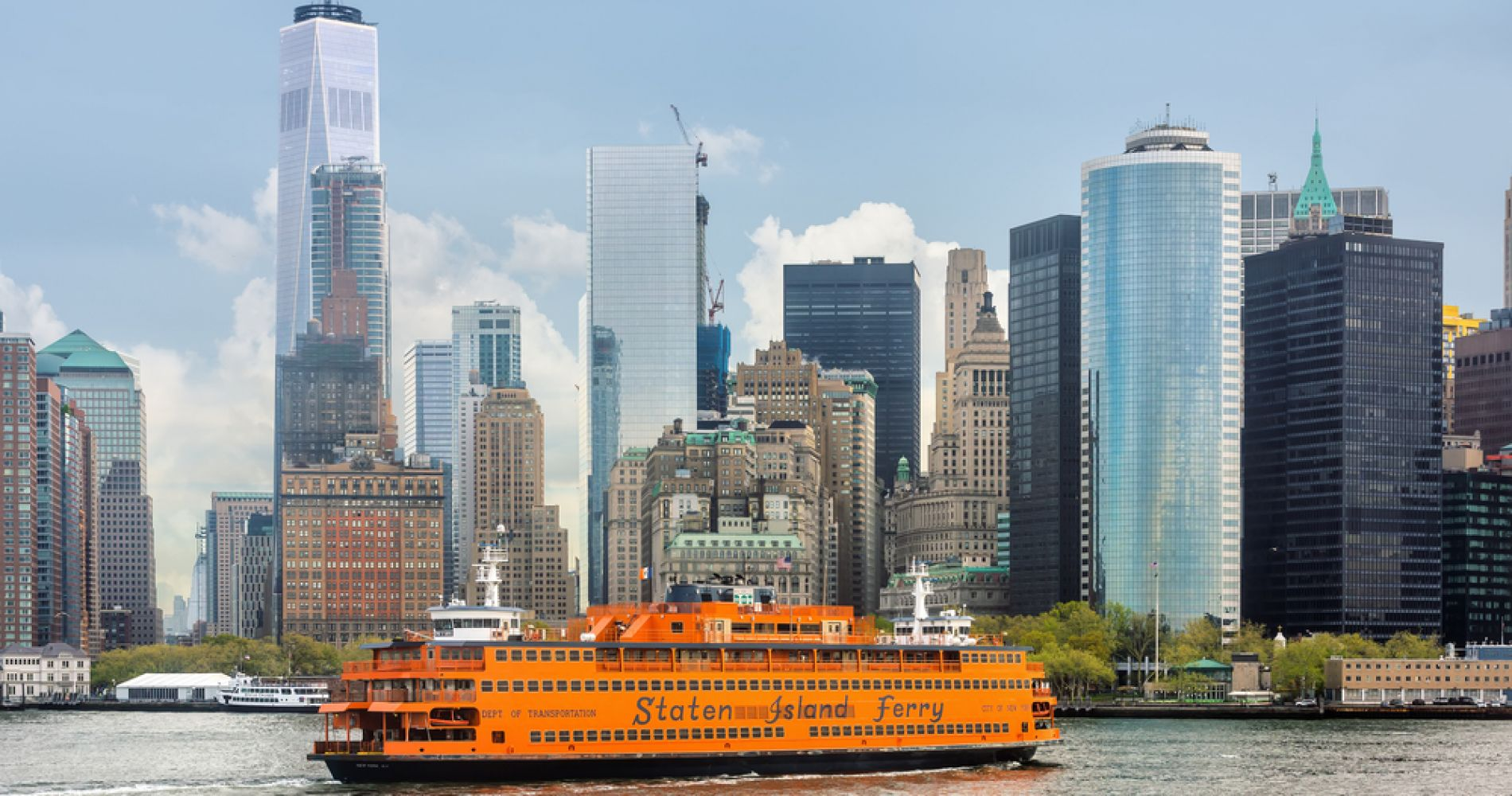 Ride & enjoy the view from the Staten Island Ferry in New York