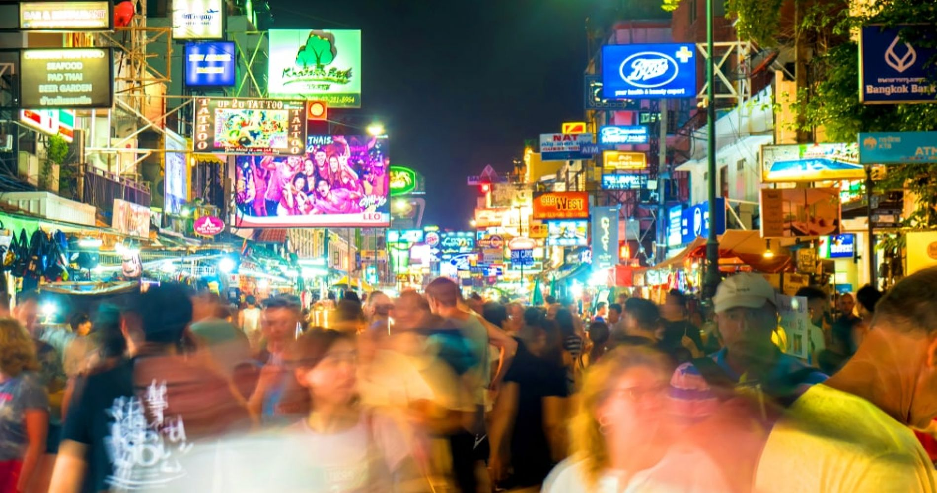 Soak in (or shop for bargains) the Khao San Road market at night time in Bangkok